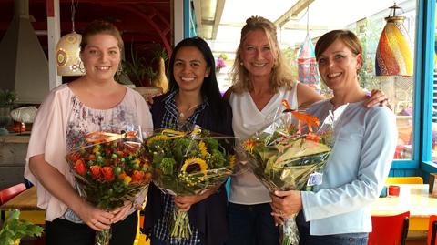 Natalie Carstens, Myra Colis, Julie Kennedy, Lisa Hall